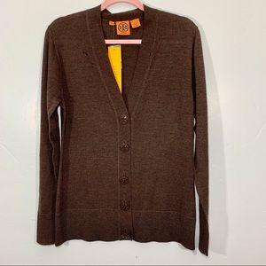 Tory Burch | Logo Button Long Sleeve Cardigan